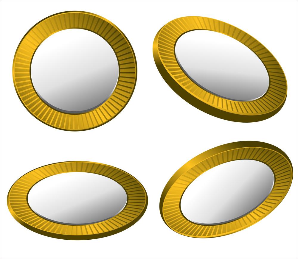 Retro Golden Coins Collection