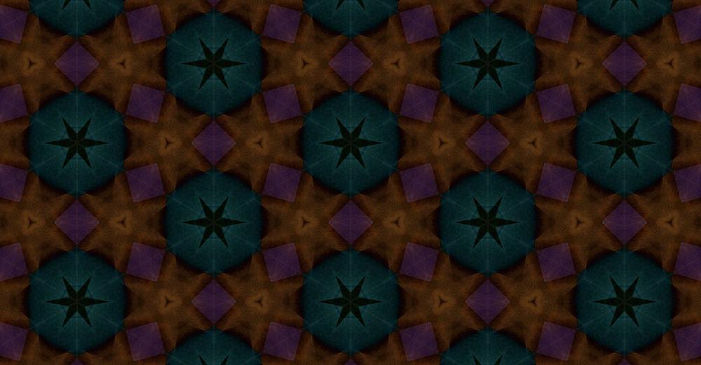 Retro Graphic Floral Pattern Design