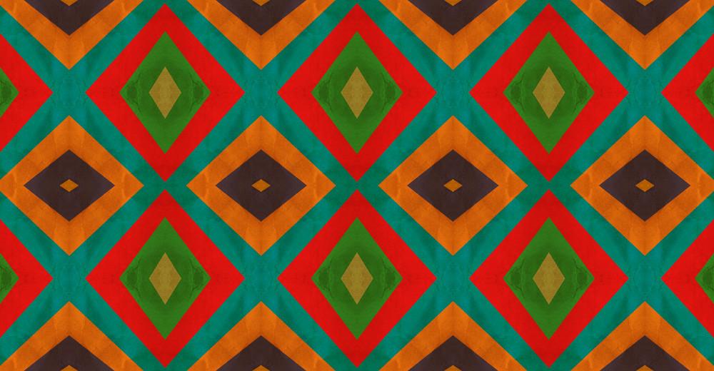 Retro Graphic Kaleidoscope Design