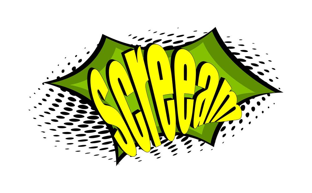 Retro Graphic Text Banner Design