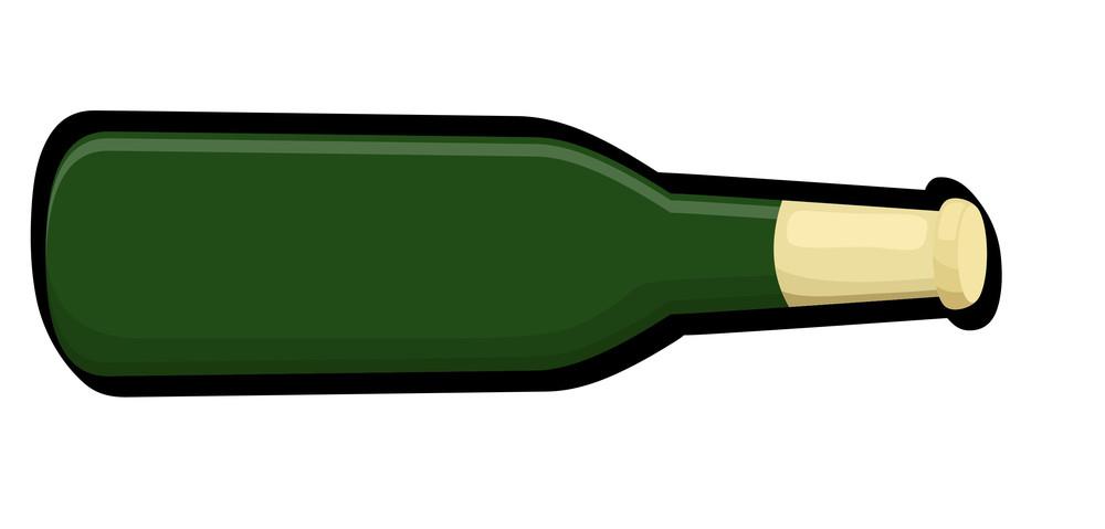 Retro Green Bottle