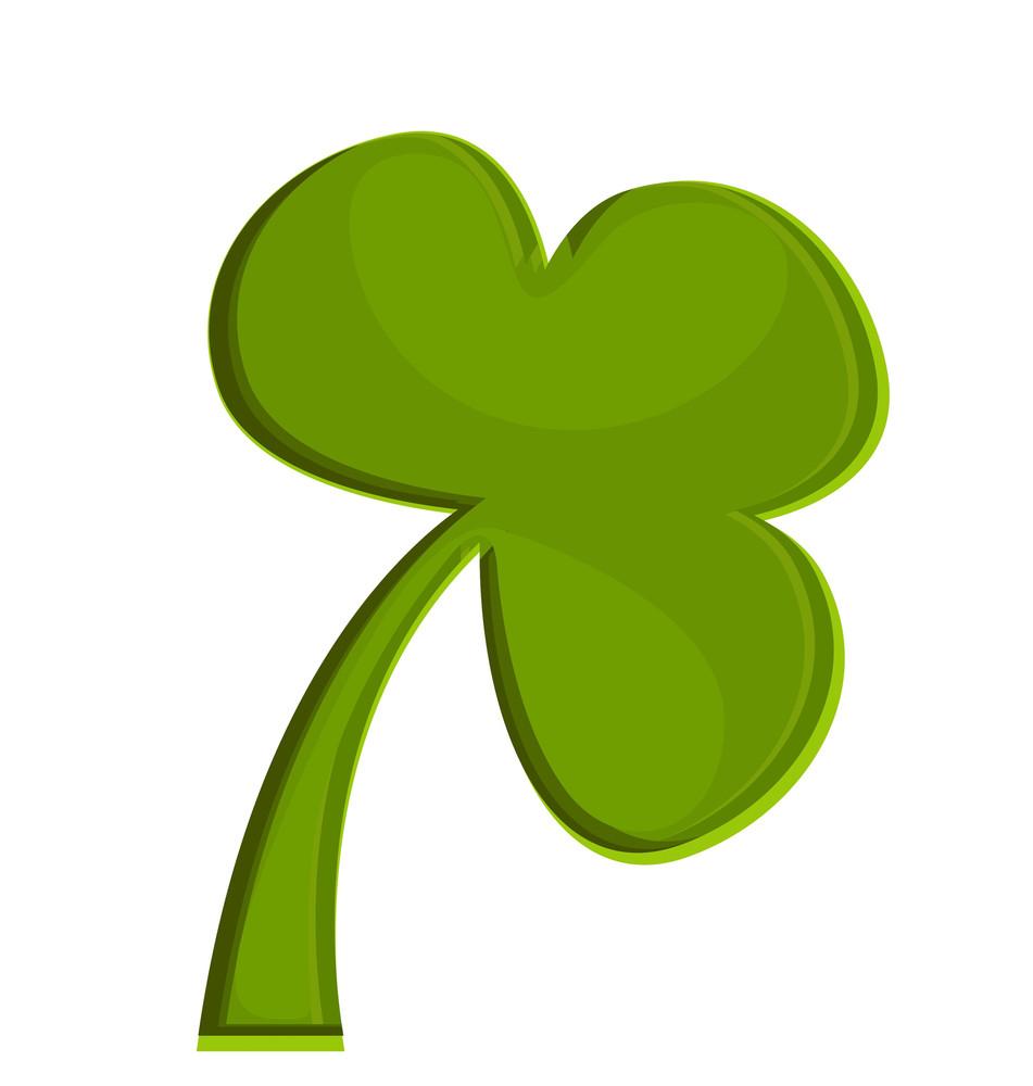Retro Green Clover Icon