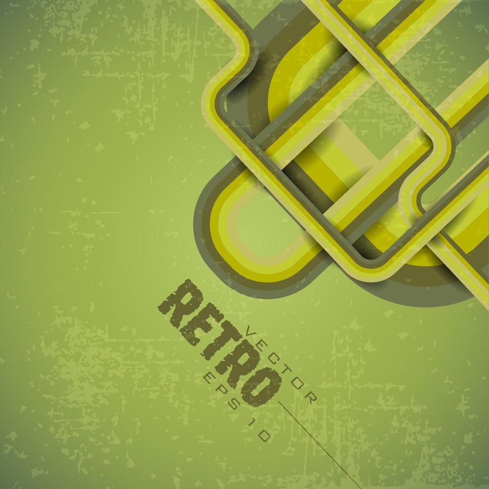 Retro Green Grunge Background