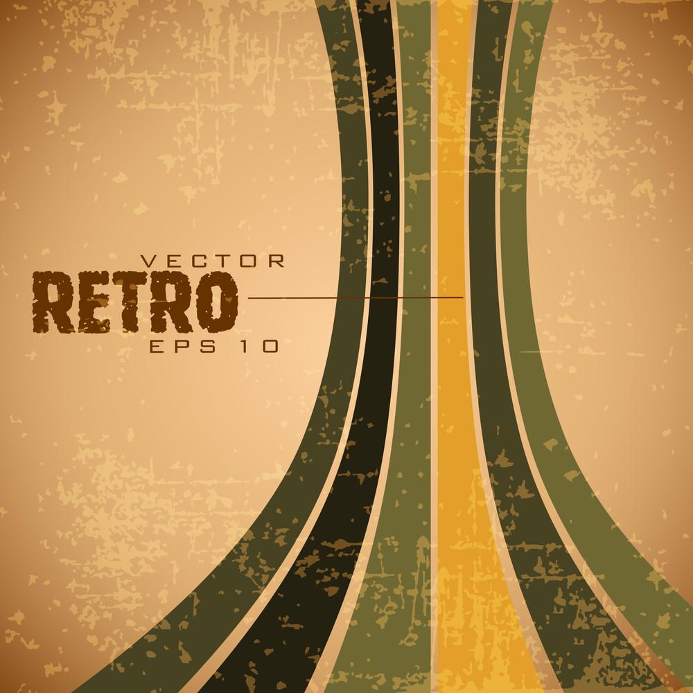Retro Grunge Brown Retro Background