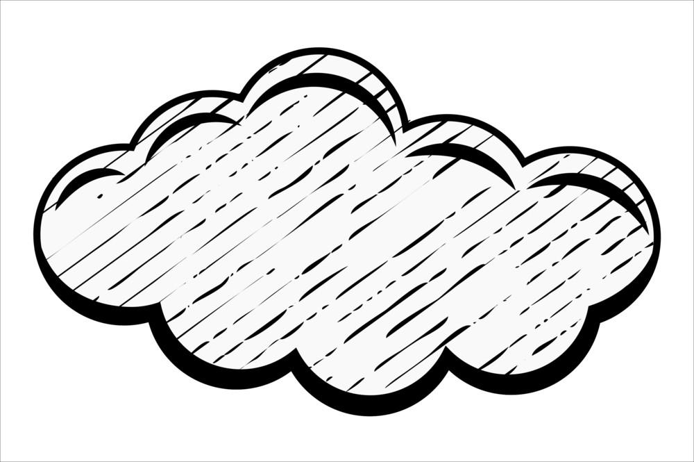 Retro Grunge Cloud