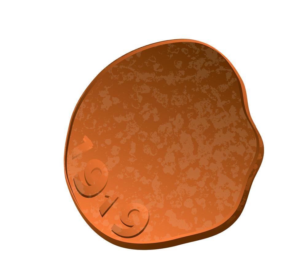 Retro Grunge Coin