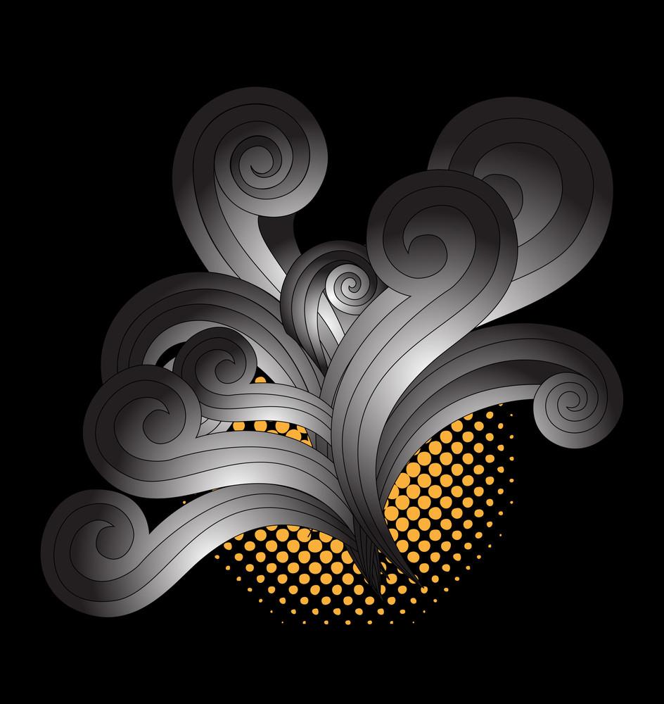 Retro Grunge Floral Background