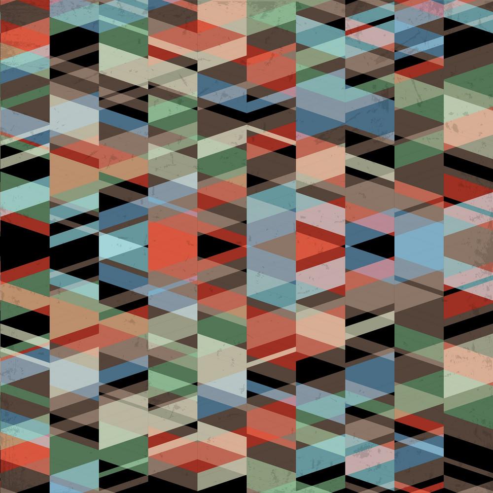 Retro Grunge Geometric Background
