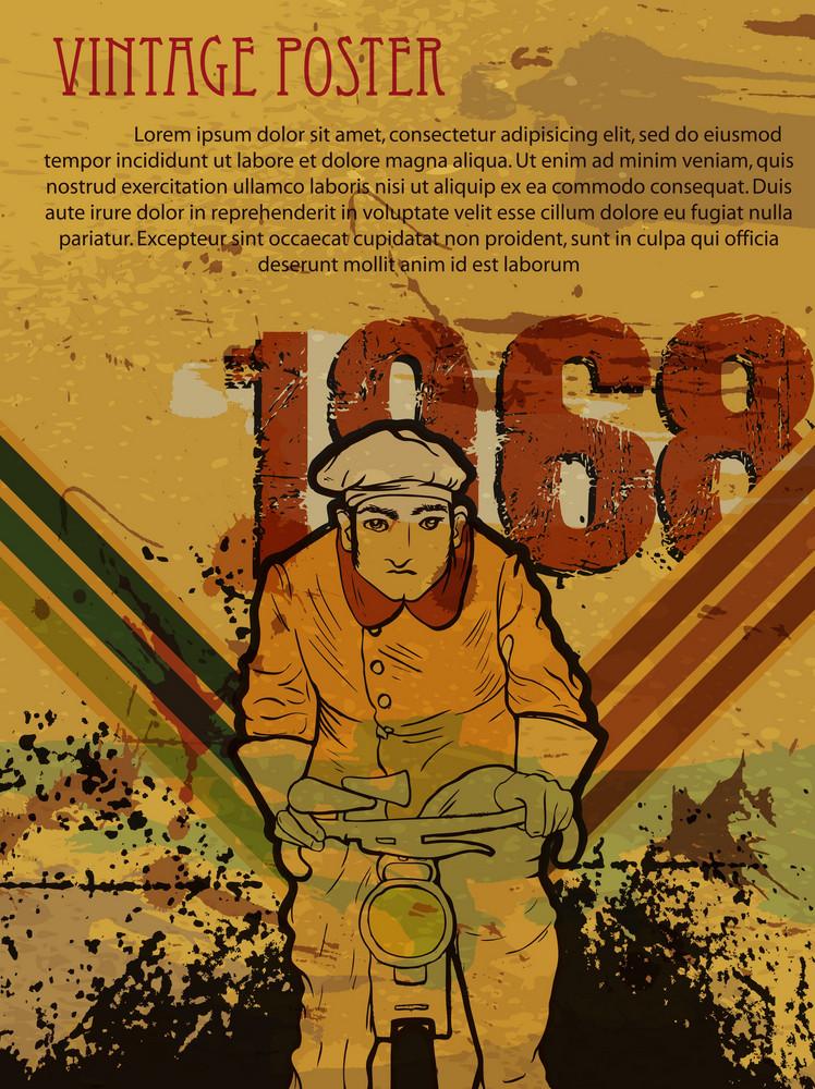 Retro Grunge Poster Vector Illustration