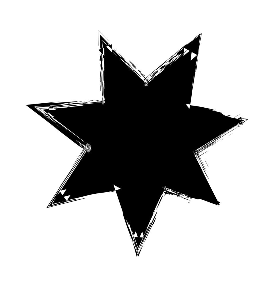 Retro Grunge Star Shape