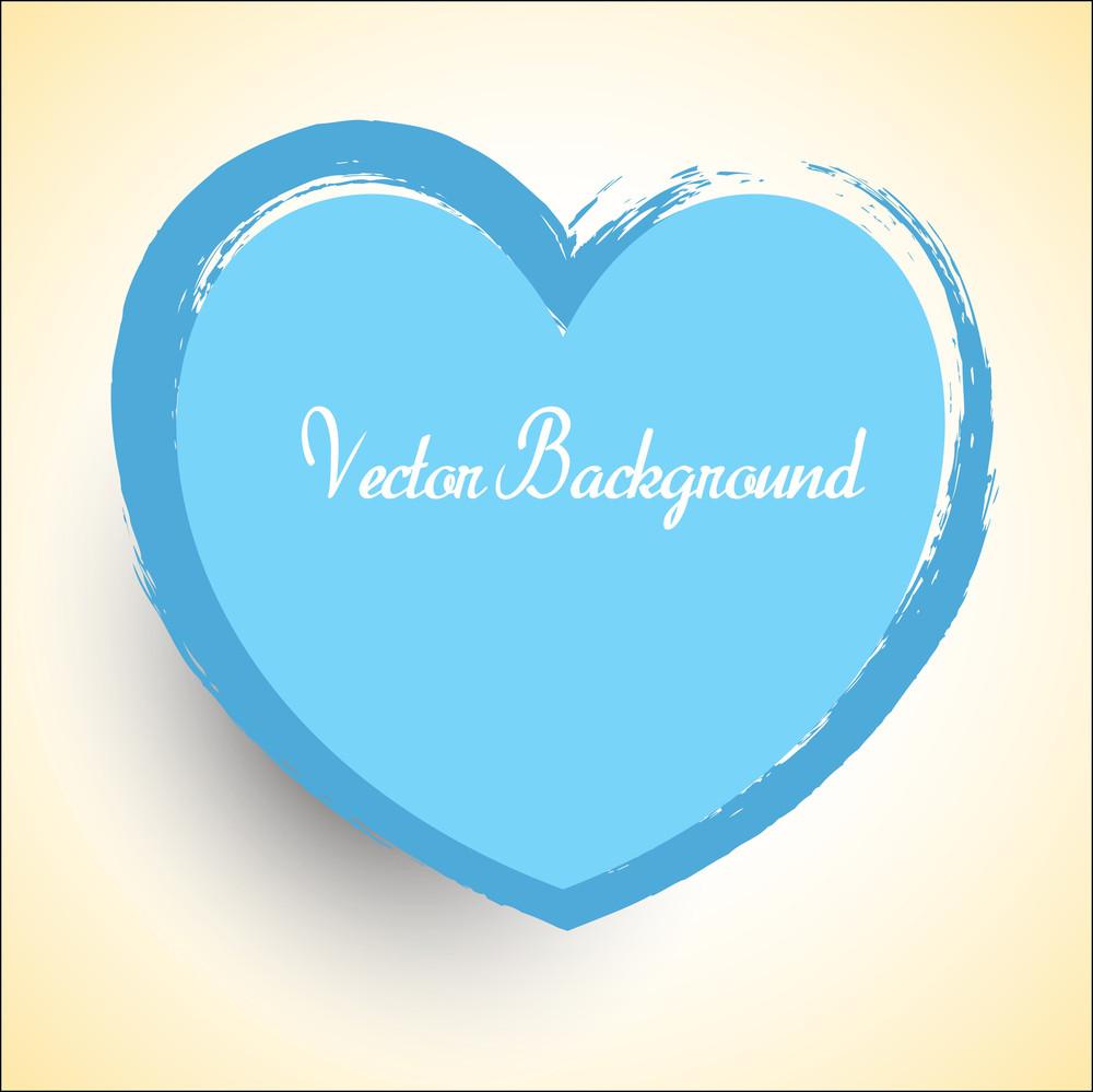 Retro Grunge Valentine Heart