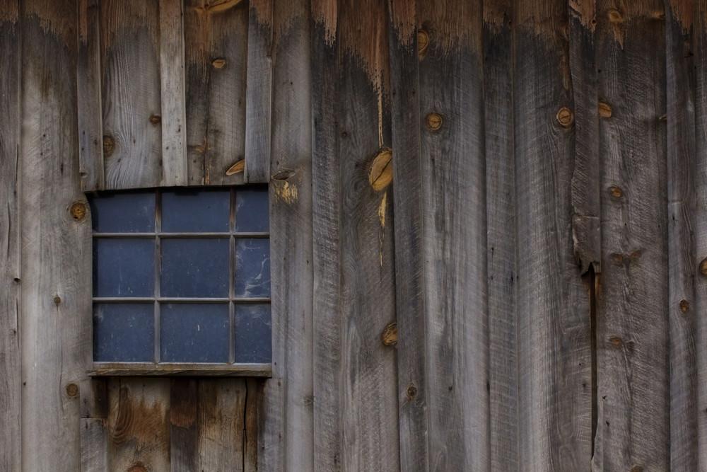 Retro Grunge Wood House Window