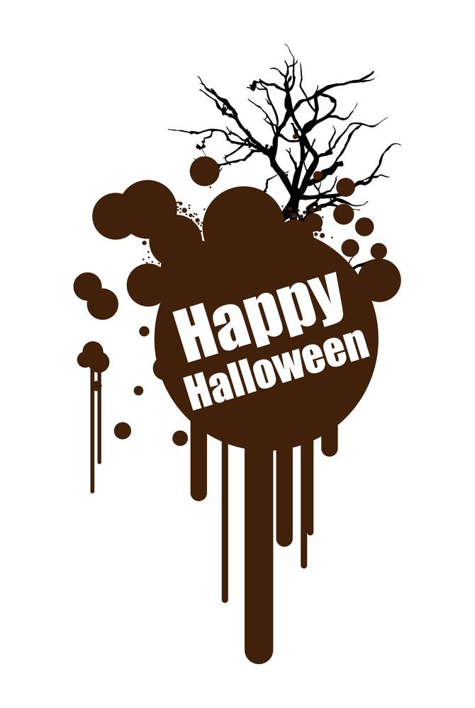 Retro Halloween Banner Design