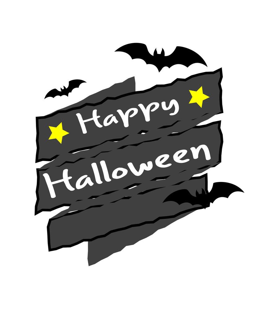 Retro Halloween Vector Banner