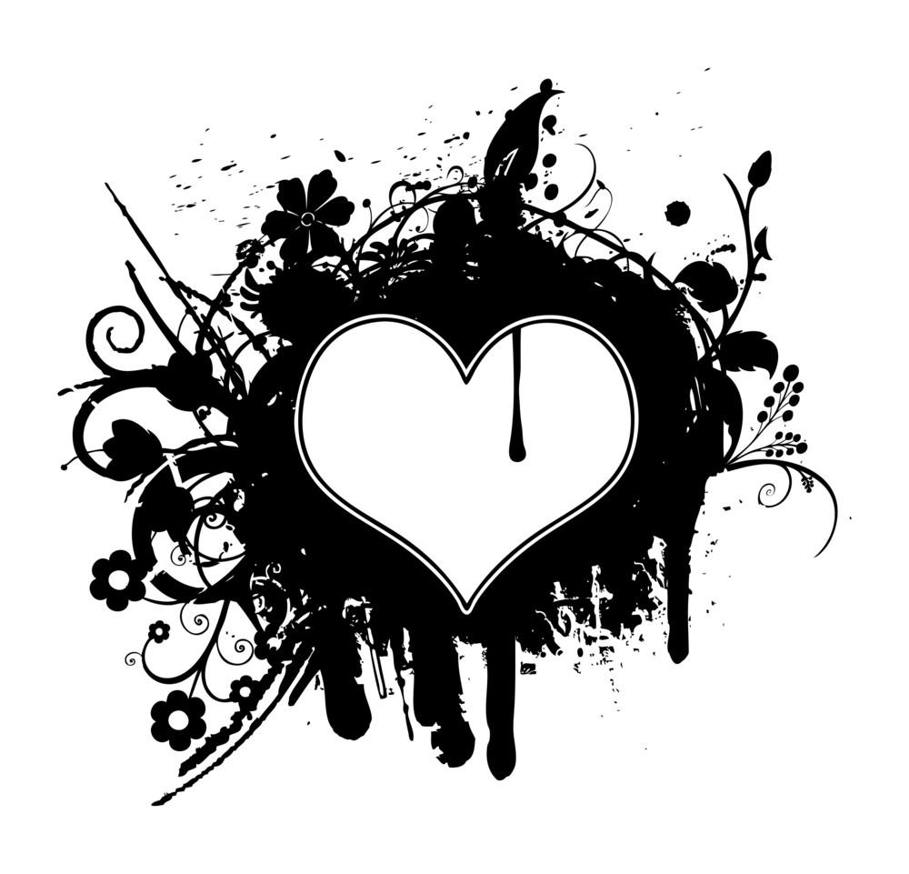 Retro Heart Banner Design