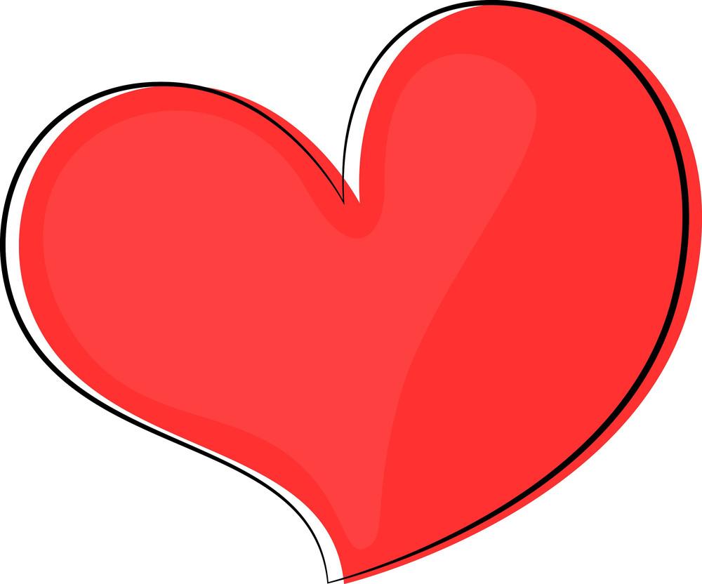 Retro Heart Clipart