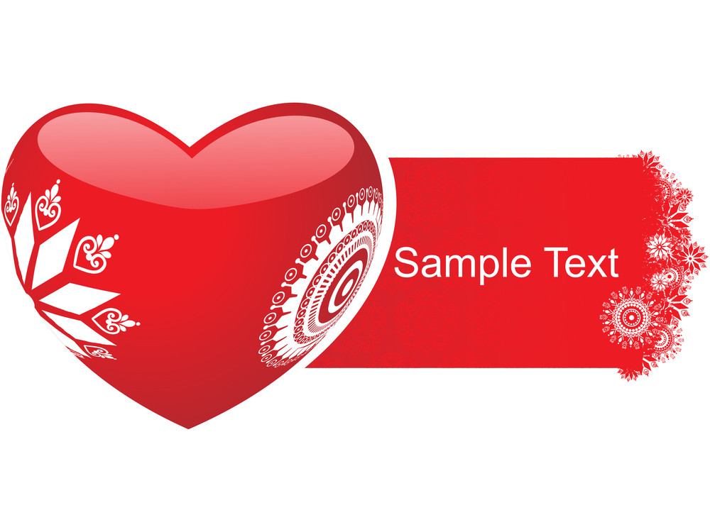 Retro Heart With Sample Text