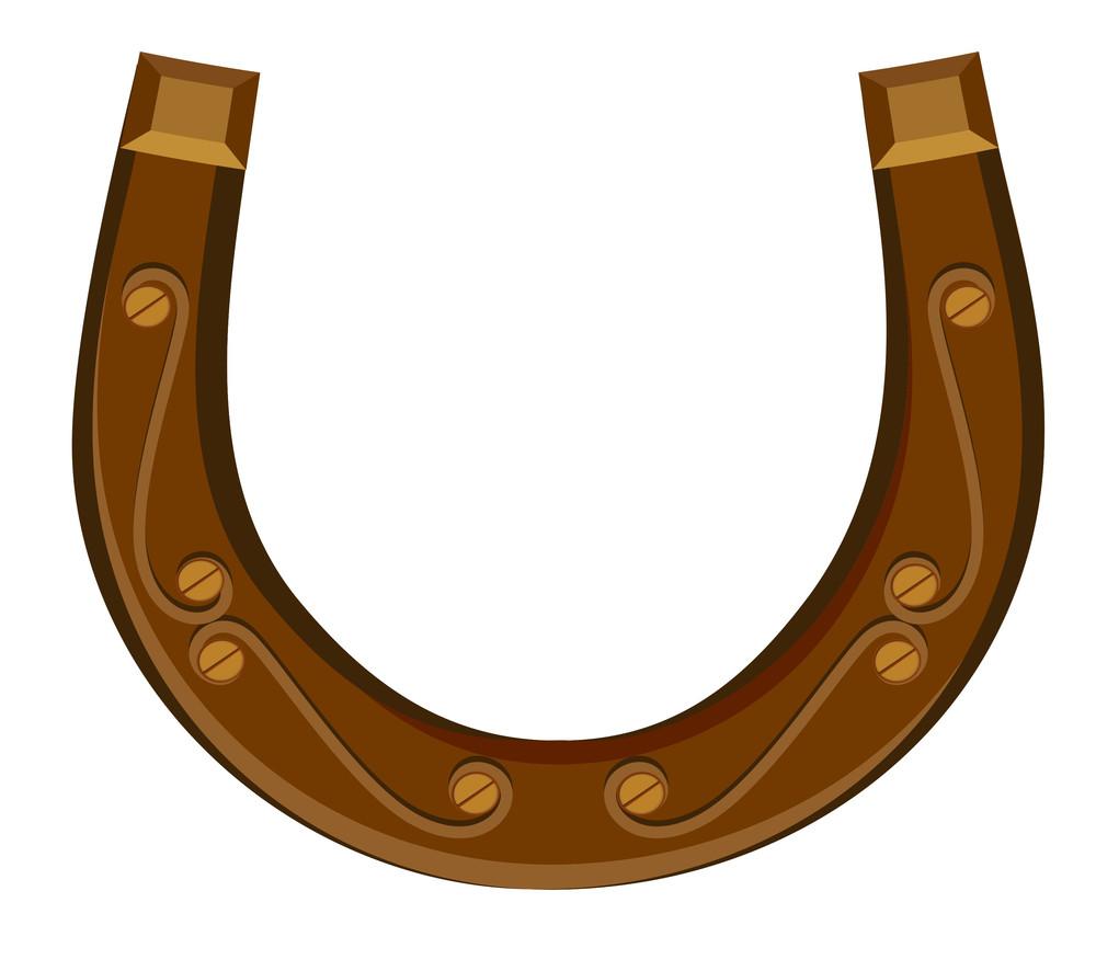 Retro Horseshoe Design Vector Element