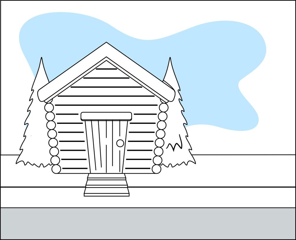 Retro House Vector Background