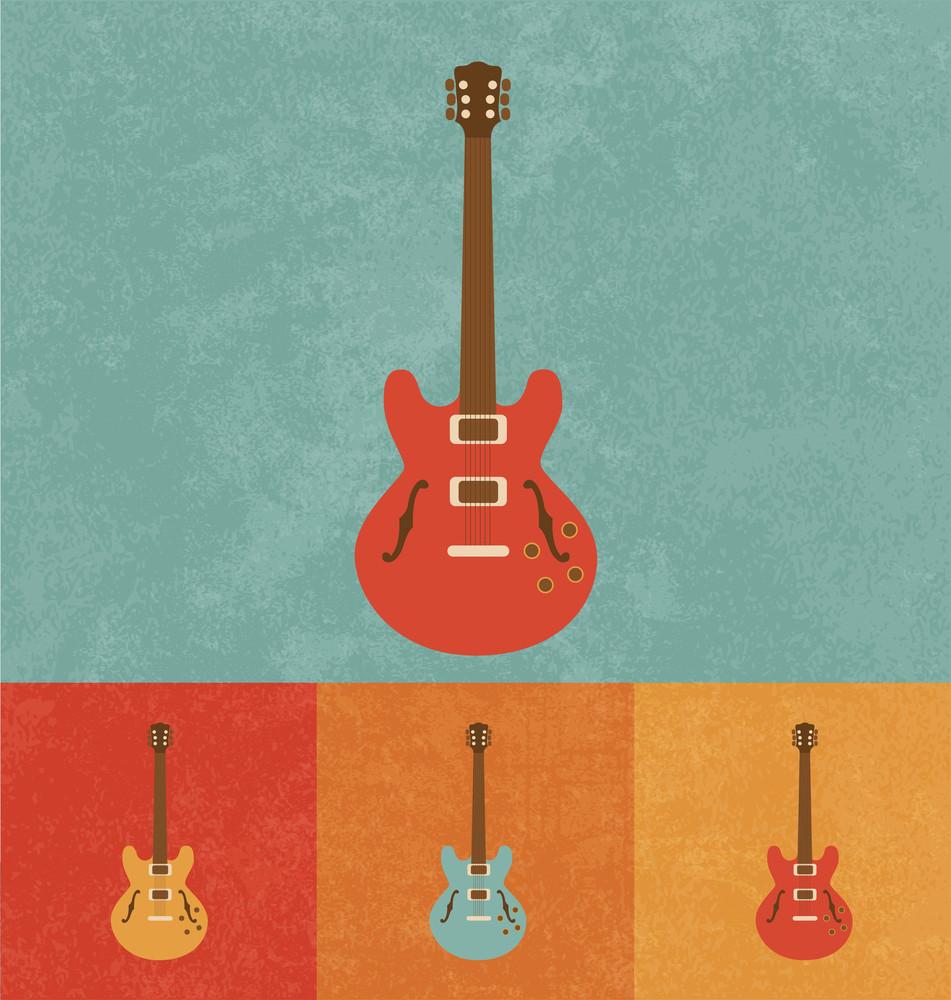 Retro Icons - Electric Guitar