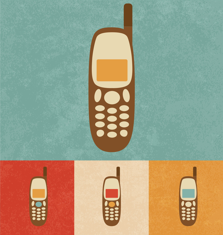 Retro Icons - Mobile Phone