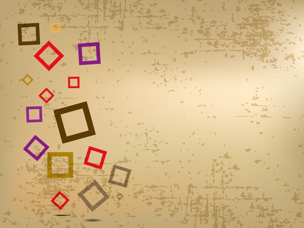 Retro Illustration With Color Ful Square