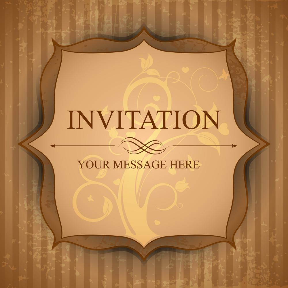 Retro Invitation Card