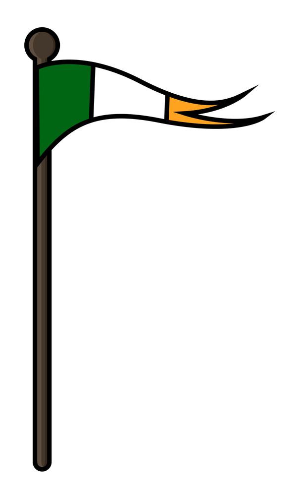 Retro Irish Flag Vector Elements