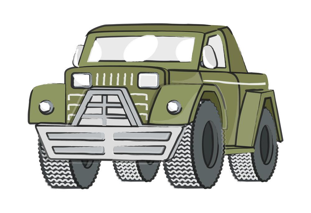 Retro Jeep Vector