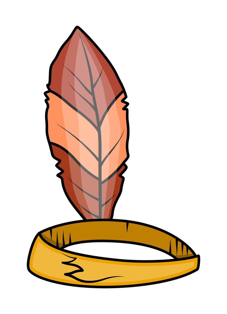 Retro Leaf Crown Vector