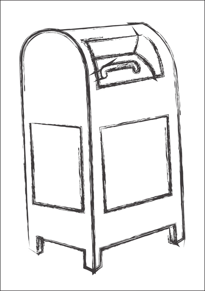 Retro Letterbox Sketch Royalty Free Stock Image Storyblocks Images
