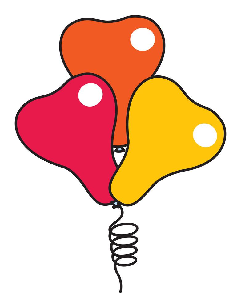 Retro Love Heart Balloons Set