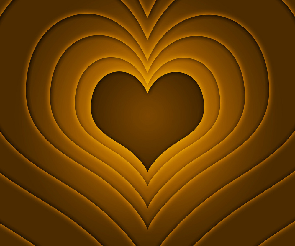 Retro Love Story Gold Background
