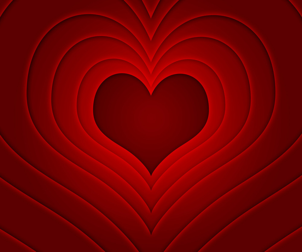 Retro Love Story Red Background