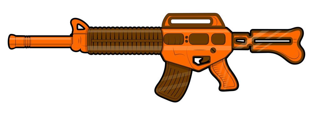 Retro Machine Gun Vector Design