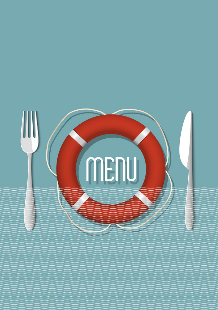 Retro Menu Design For Seafood Restaurant - Variation 5