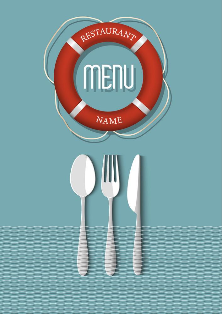 Retro Menu Design For Seafood Restaurant - Variation 6