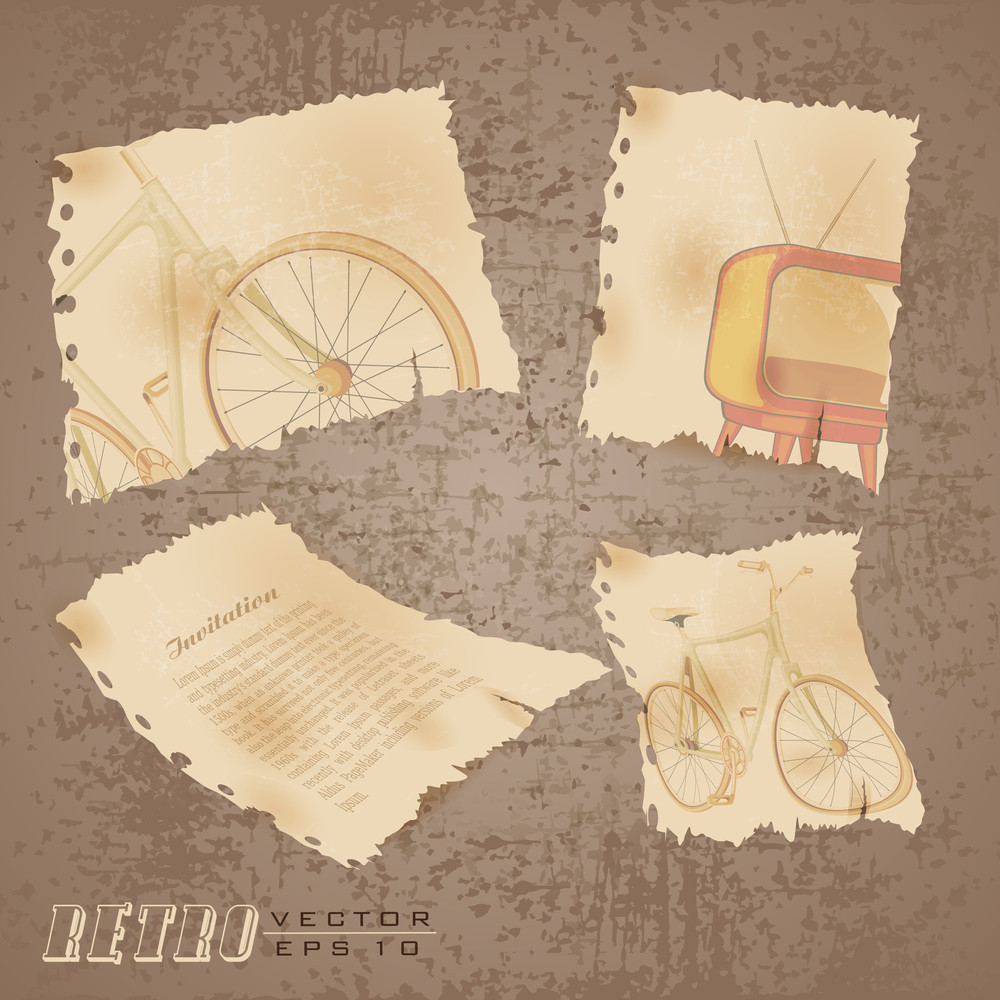 Retro Old Style Abstract Background With Grang And Eps 10 Vector Illustration.