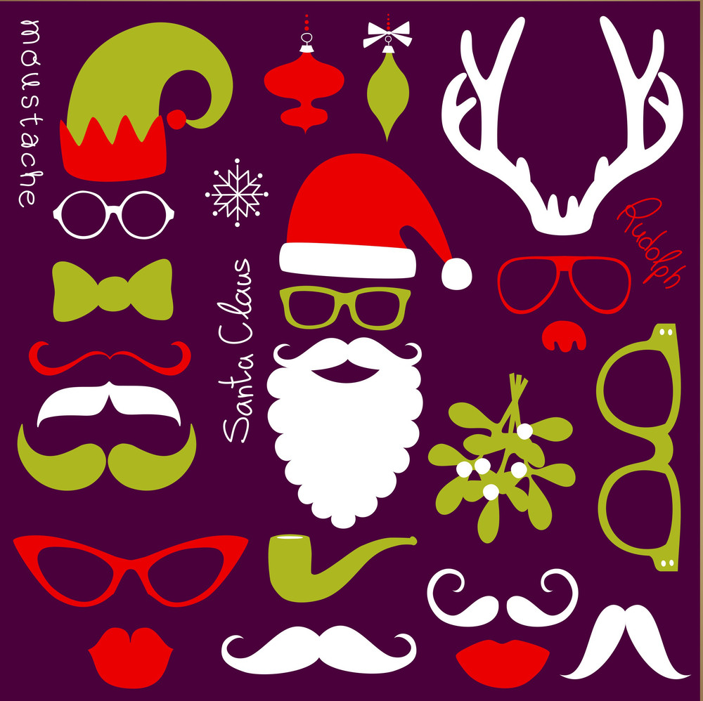 Retro Party Set - Santa Claus Beard