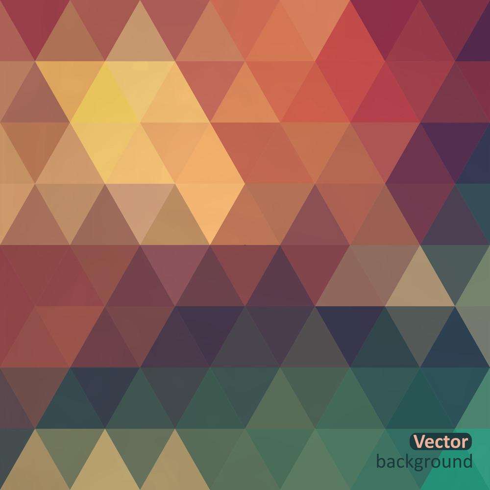 Retro-Muster der geometrischen Formen. Bunte Mosaik Banner. Geometrische Hipster Retro Hintergrund Mit Platz Für Ihren Text. Retro Dreieck Hintergrund