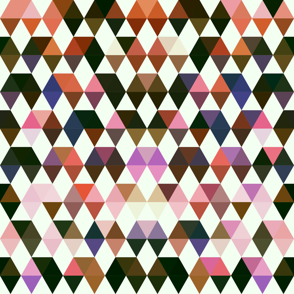 Retro Pattern Of Geometric Shapes. Colorful Mosaic Banner. Geometric Hipster Retro Background With Place For Your Text. Retro Triangle Background