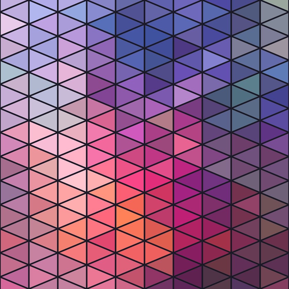 Retro Pattern Of Geometric Shapes. Triangle Colorful Mosaic Backdrop. Geometric Hipster Retro Background