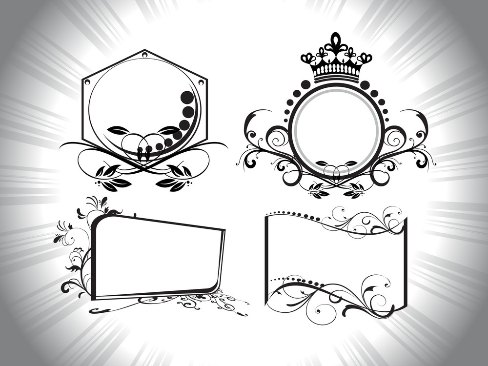 Retro Pattern Ornamental Frames