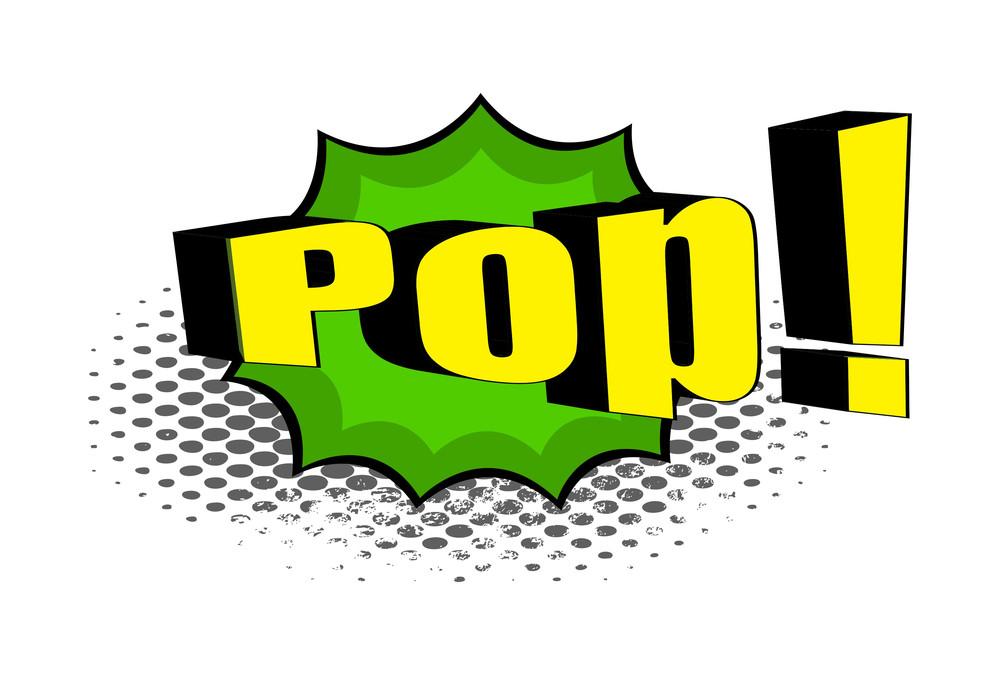 Retro Pop Text Banner