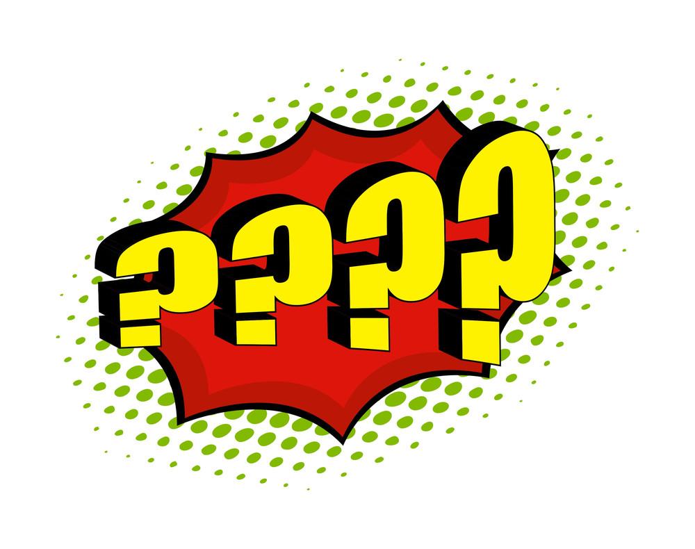 Retro Question Mark Symbol Background