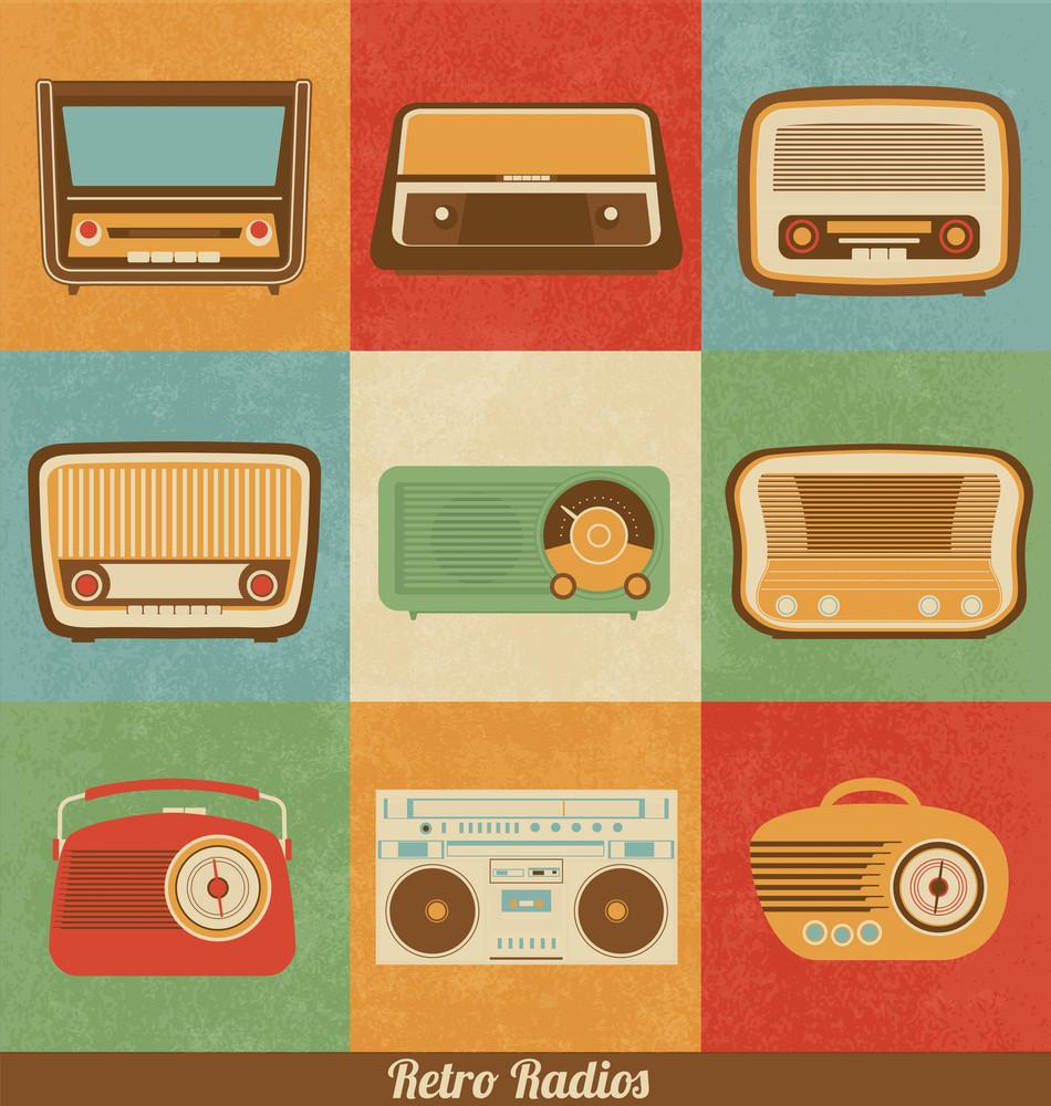 Retro Radio Icons