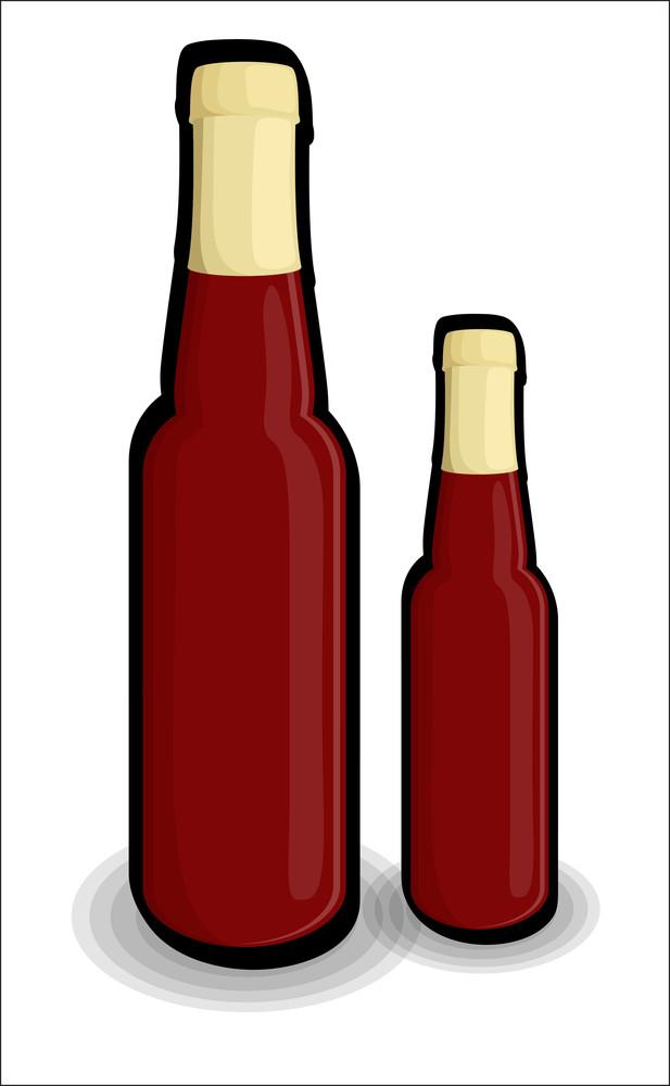 Retro Red Champaign Bottles