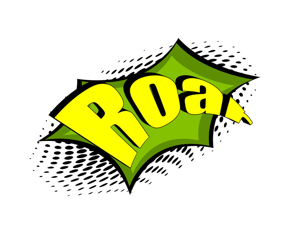 Retro Roar Text Banner Design