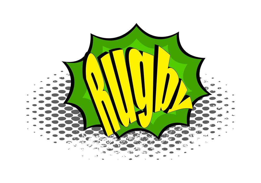 Retro Rugby Graphic Banner Design
