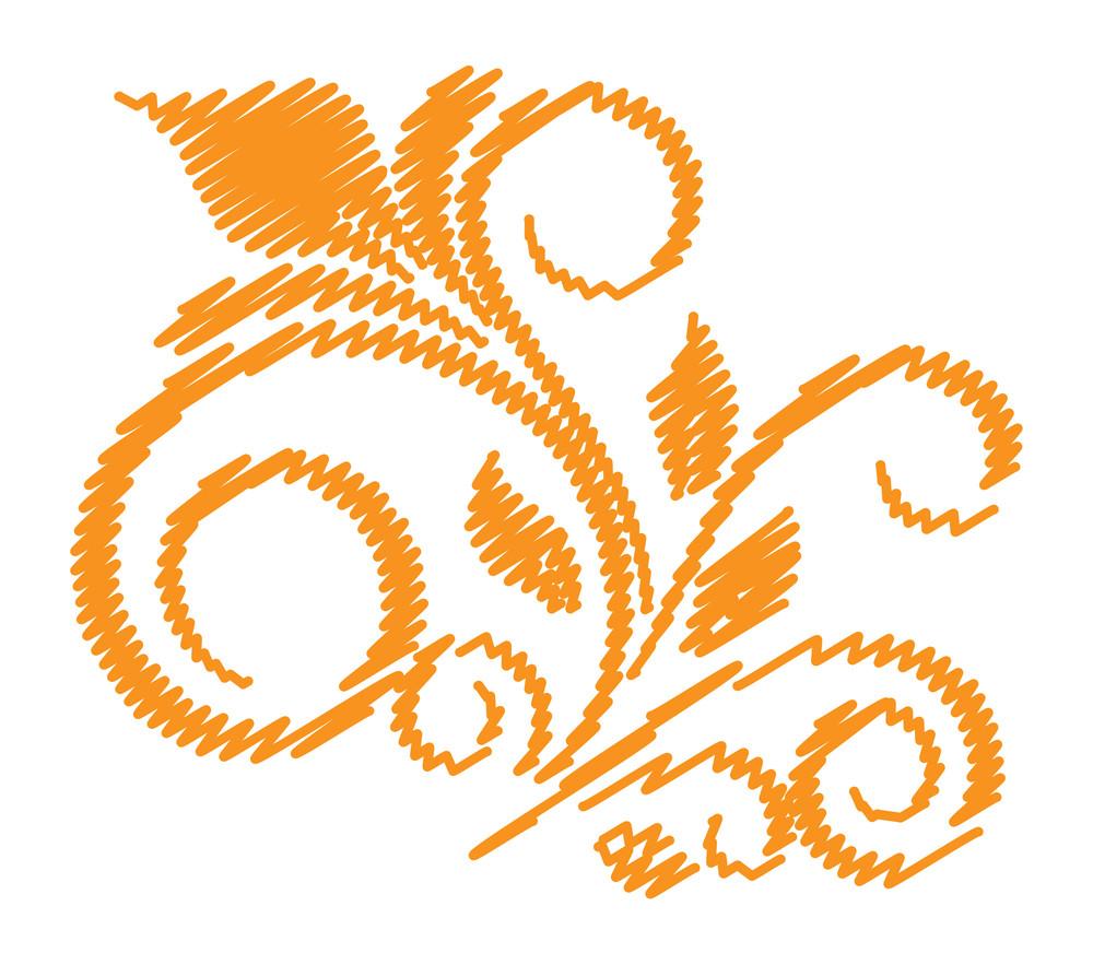 Retro Scribble Floral Design